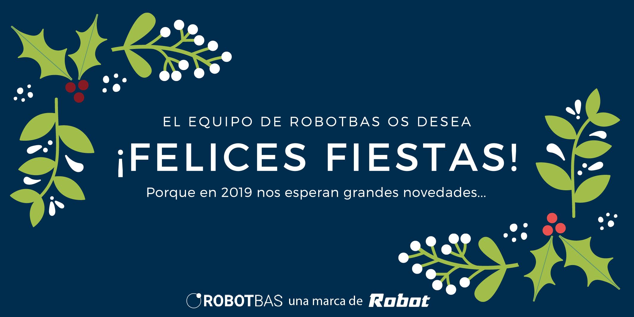 felices fiestas de robot 2018