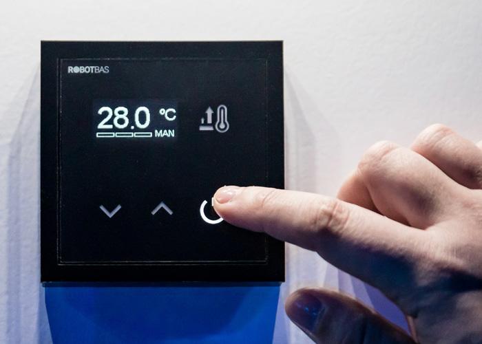 display de climatización de robotbas