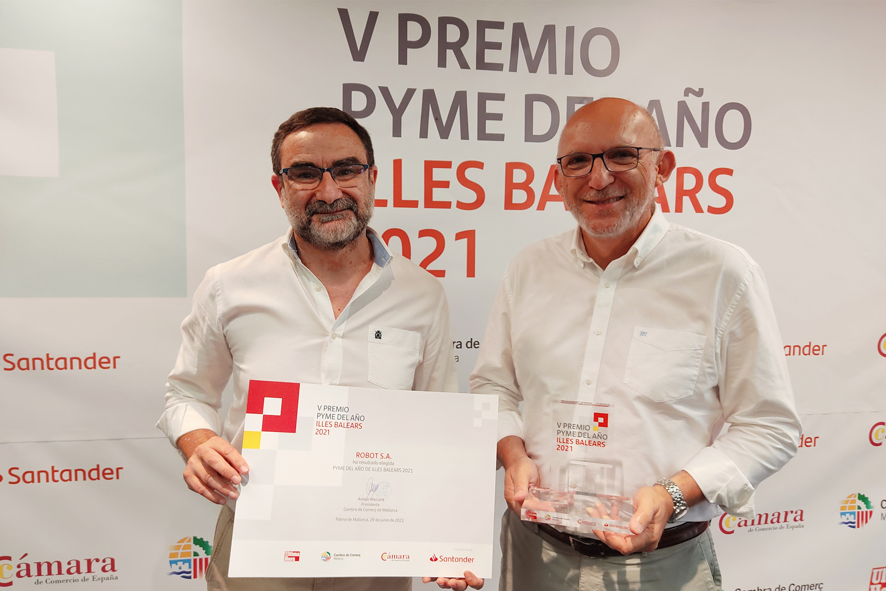 We received the 2021 Balearic Islands SME of the Year Award